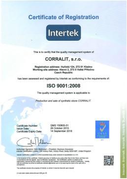 Certifikat ISO  -2015 aj